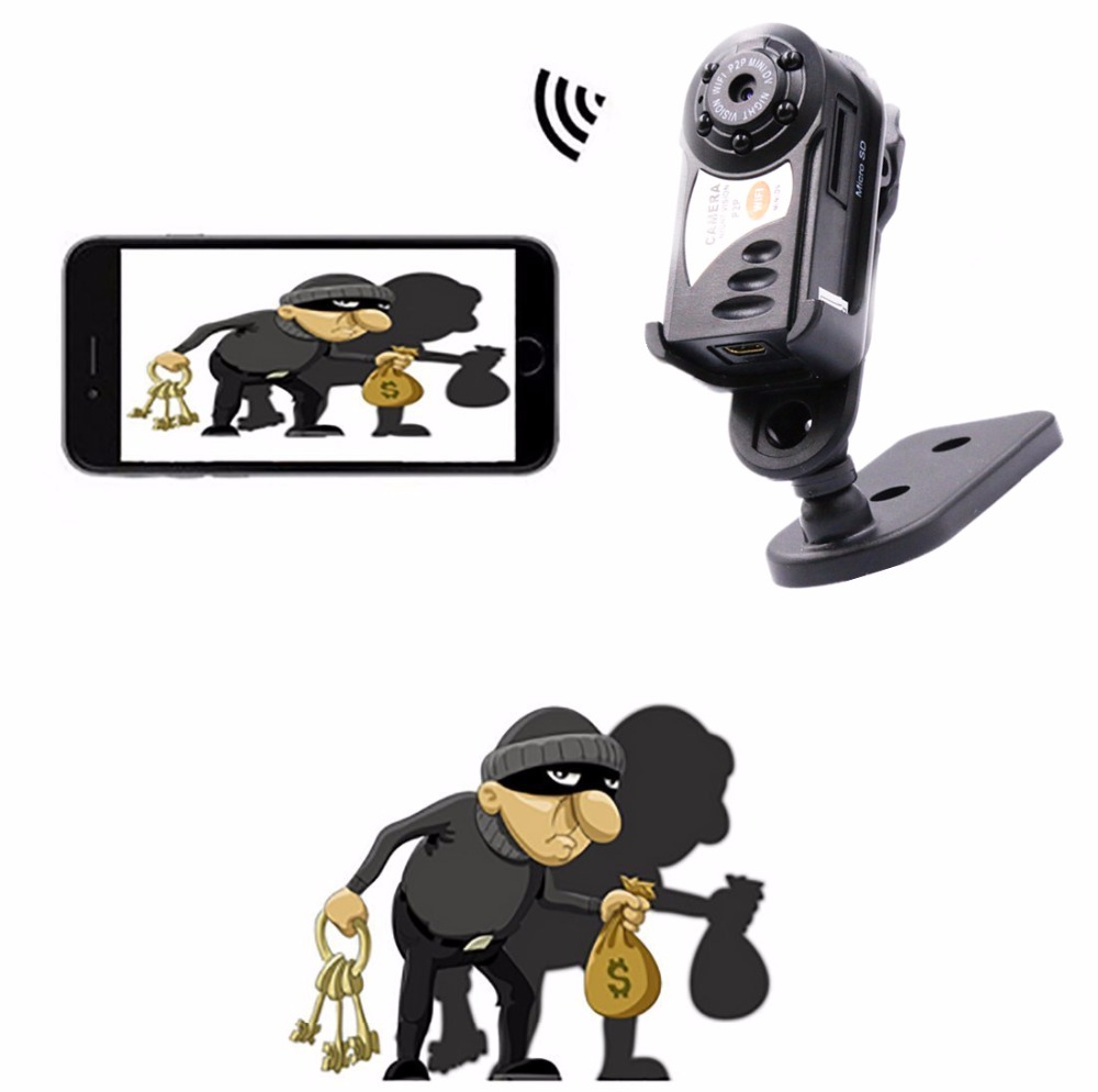 best seller 720P HD mini wifi dvr wireless ip cam camcorder night vision spycam with 5