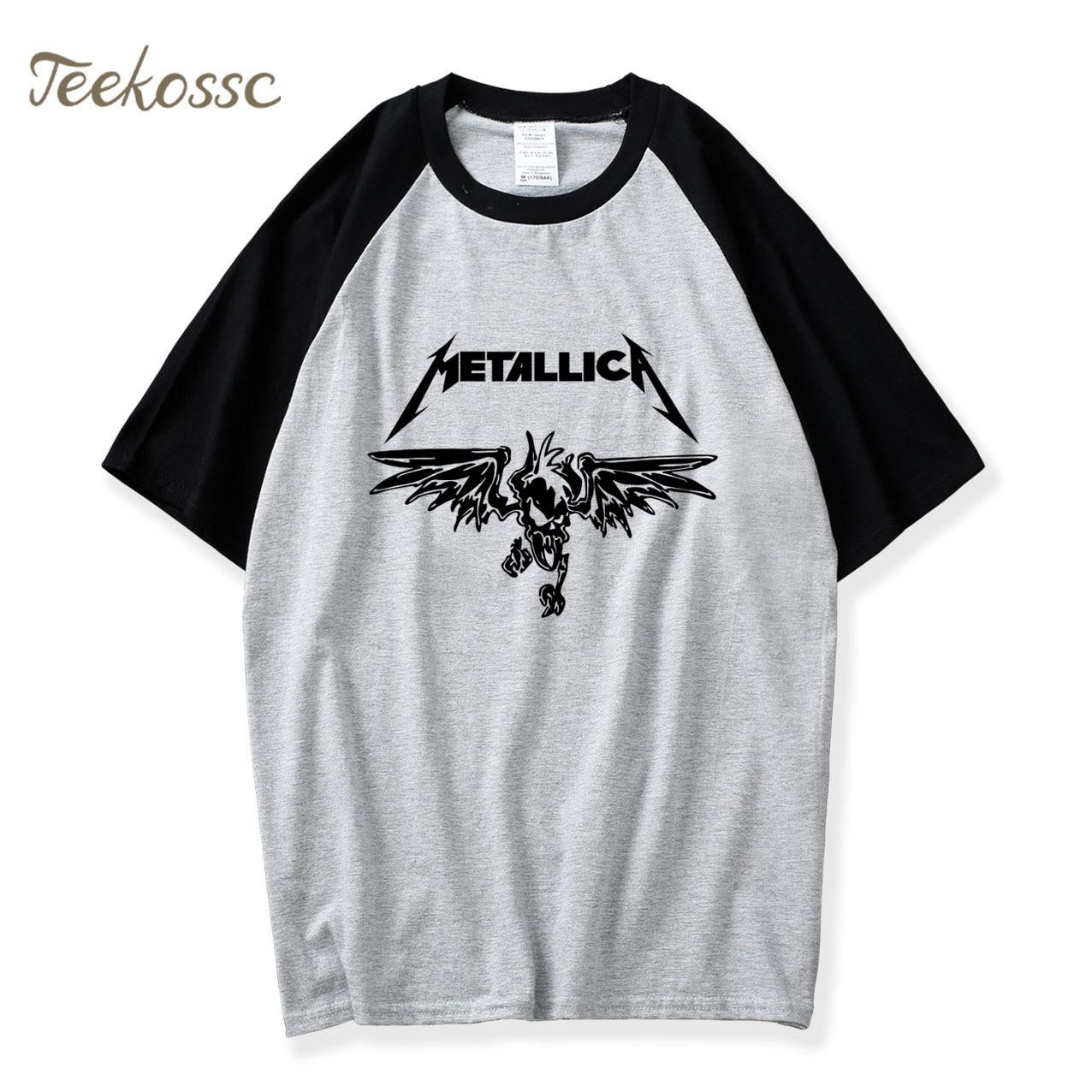 Heavy Metal Music Tshirts Hot Summer Raglan Sleeve Punk Rock Cotton T-Shirt Casual Shirt Hip Hop T Shirt Mens Fashion For Men