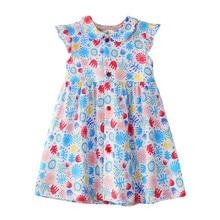 Girl Unicorn Floral Dress Girls Unicorn Dress Summer Cute Princess Children Clothing Kids Stripes Polka Dot Flower Dress