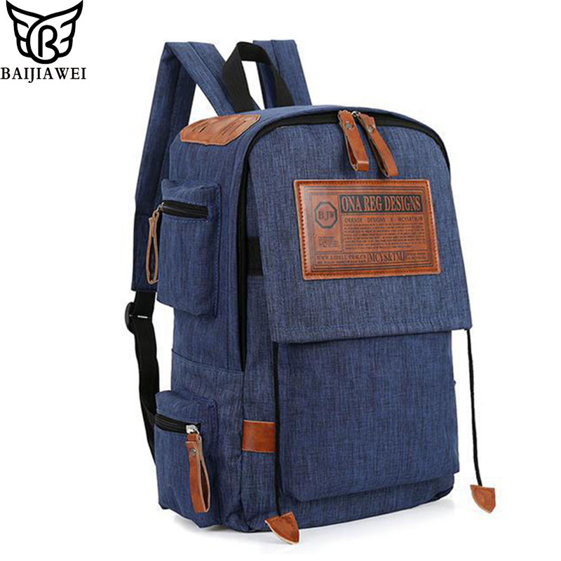 BAIJIAWEI 2017 New Backpack For Men Women Multi-pockets Design 14 inch Laptop Bags Waterproof Bag Casual Business Backpacks jacodel unisex waterproof 13 14 15 15 6 inch laptop shoulder bag for men women 2017 notbook bag 15 6 14 13 3 inch messenger bags