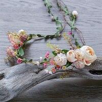 Nuptiale Fleur Bandeau Guirlande Artificielle Bouquets De Mariage Fleurs En Tissu Cheveux Accessoires Flores Décorations Casamento WIGO0880