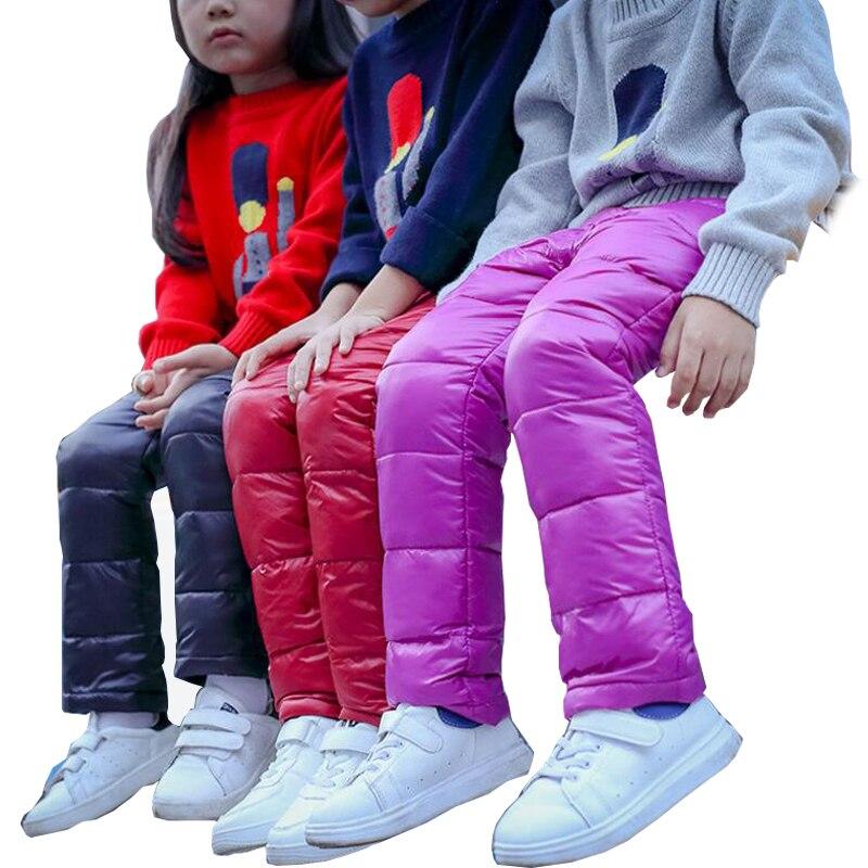 2017 Children's Warm Trousers Winter Girls/Boys Plus Velvet Thickening Leggings Thicken Pants For Kids Skinny Girls Leggings