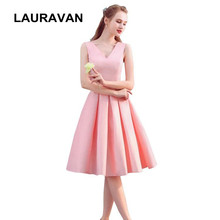 fashionable formal robe de soiree princess short pink v neck dress party  bridesmaid elegant ball gown festive dresses for guest 2ebee01566f9