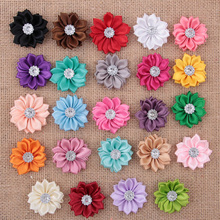 Wholesale 500pcs/lot Small Polyester Ribbon Flower DIY Satin Flower For Headbands Wedding Party Hair Accessories