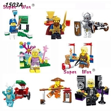 8pcs Star wars super hero marvel dc King Knight baseball Series Collection models kits building blocks