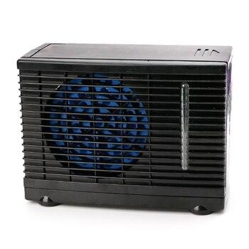 12 V 60 W Tragbare Mini Home Auto Kühler Lüfter Wasser Eis Verdunstungs Auto Klimaanlage Schwarz
