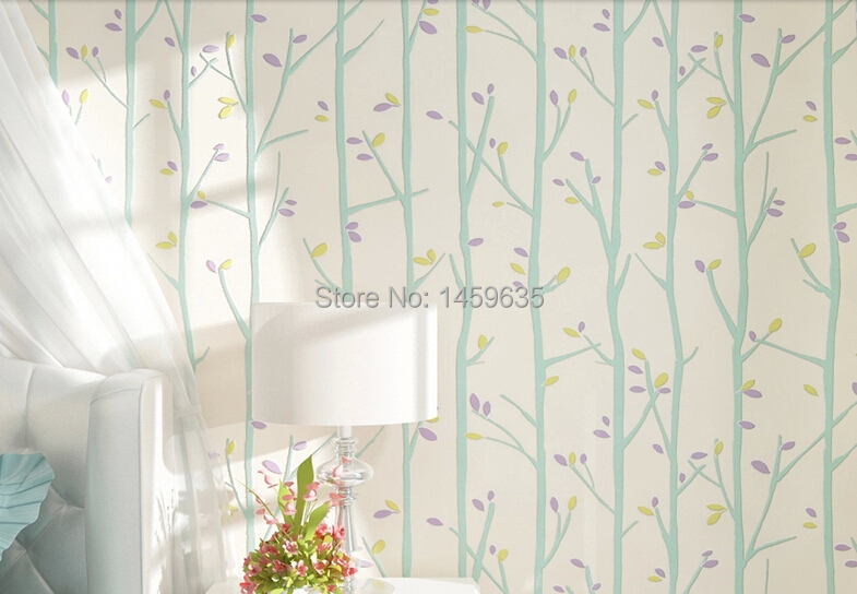 Small children's room wallpaper non-woven wallpaper bedroom garden fresh backdrop striped wallpaper boys and Girls cheng shuo wallpaper british children room non woven wallpaper the bedroom wallpaper small pure and fresh and stars wallpaper