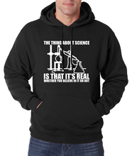 Adult funny science hoodies This is Science, Real Believe or Not 2016 autumn winter new warm fleece high quality sweatshirts