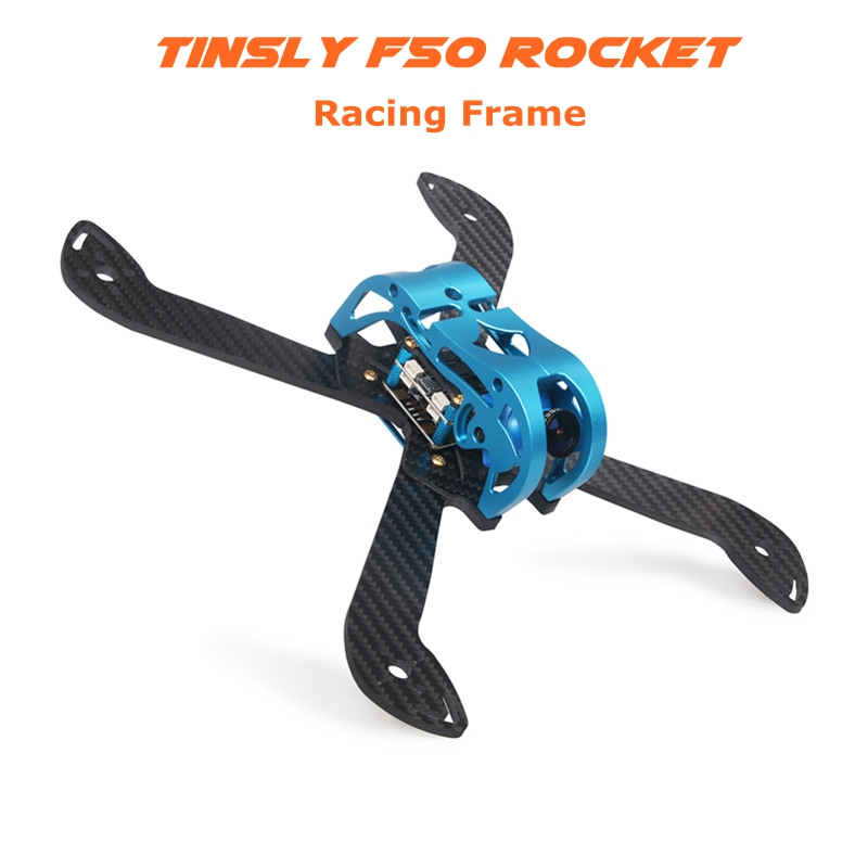 Tinsly F50 Rocket 230mm FPV Racing Frame Kit 4mm Arm w/ 5V & 12V PDB Supports 5 Inch Propellers for RC Racer Drone Quadcopter