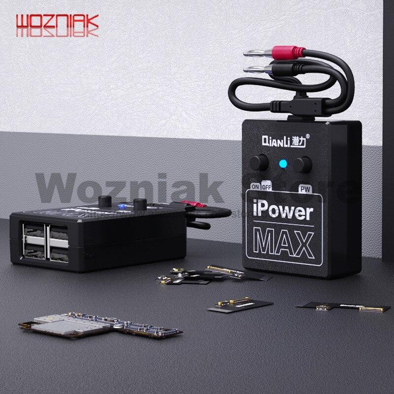 QIANLI zasilacz iPowerMAX przewód testowy dla iPhone XS MAX X 8G 8P X 7G 7P 6S 6SP 6G 6P DC regulacja mocy przewody do testowania linii iPower