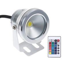 16 Colors 10W DC/AC 12V RGB LED Underwater Fountain Light Swimming Pool Pond Tank Aquarium LED Light Lamp IP67 Waterproof недорого