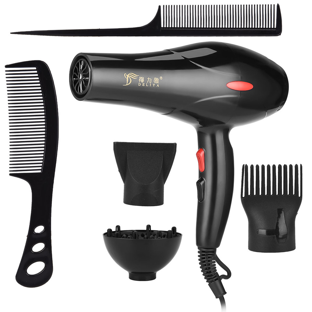 2200W Negative Ion Hair Dryer Household Hair Dryers Fan Diffuser Nozzles Comb Salon Mini Travel Portable Blow Drying Machine