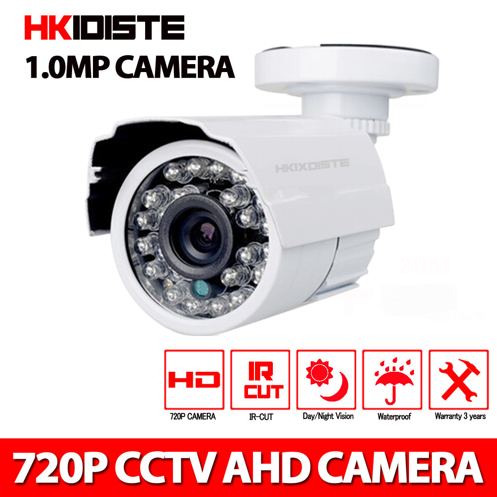 CCTV Camera 720p/2000TVL IR Cut Filter 24 Hour Day/Night Vision Video Outdoor Waterproof IR Bullet Surveillance Camera