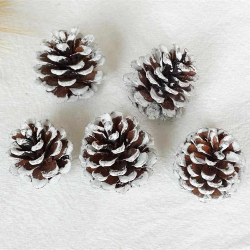 50pcs Natuurlijke Gedroogde bloemen Pine cone Acorn Kunstbloem Voor Thuis Kerst DIY Garland Krans Decoratie Benodigdheden