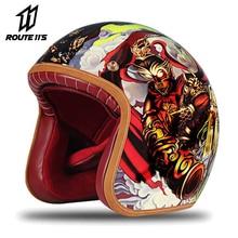 New Retro Motorcycle Helmet Kask Motocross Capacete Cascos Para Moto Helmet Motorcycle Motorbike Riding 3/4Open Face Helmets