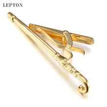 Модные Золотые зажимы для галстуков в форме зонтика lepton мужчин