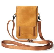 Shoulder Belt Mobile Phone Leather Case Wallet Pouch For iPhone 8/8 Plus,Doogee X20/X20L/X30L,Meizu Pro 7 Plus/M6S,Oppo A83