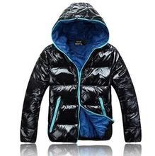 С капюшоном воротник мужской Ветрозащитный водонепроницаемый для мужчин зима 2016 вниз и ветровки куртки мужские ватник мужские куртки и пальто М-2XL