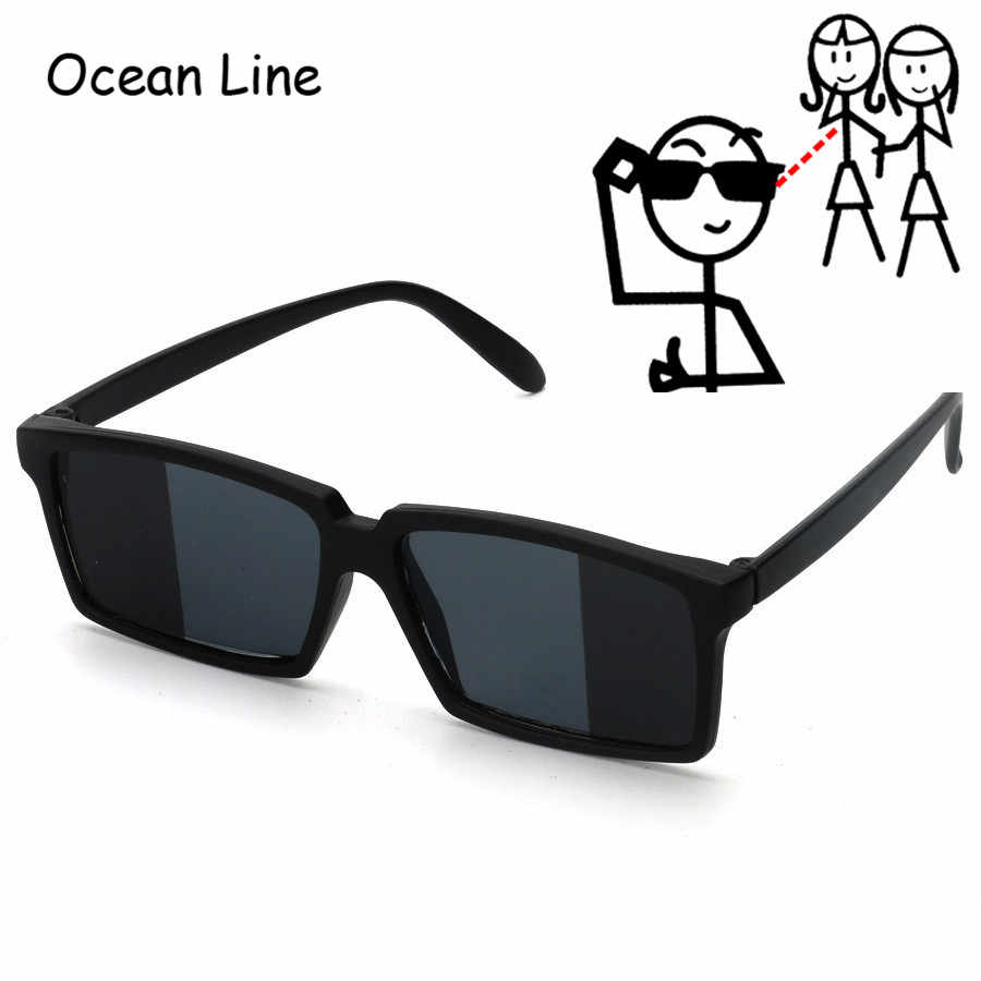 ab55f1be8a7ff To See Behind Spy Sunglasses Novelty Shades with Mirror on Side Ends Funny  Costume Glasses Accessories