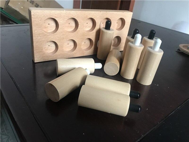 Nouveau jouet en bois pour bébé Montessori cylindres de pression sensoriels éducation de la petite enfance jouets pour enfants d'âge préscolaire cadeaux pour bébés - 4