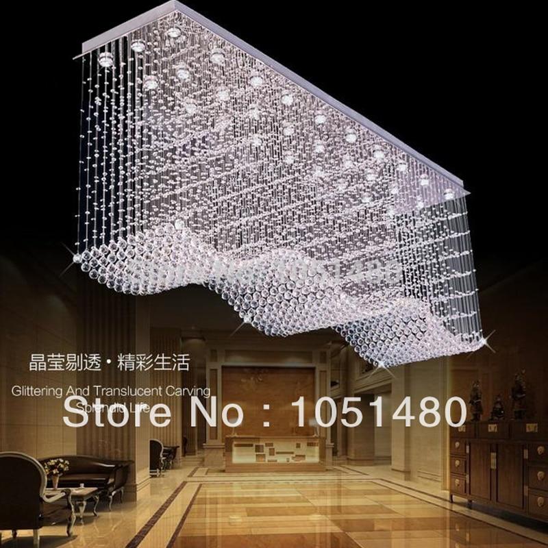 Free shipping wave crystal light hotel crystal chandelier,lustres de cristal lamparas modern luxury crystal lighting