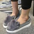 2016 zapatos mujer милые маленькие уши кролика Carrefour обувь удобные повседневная обувь мультфильм ленивый обувь мода женщина a200