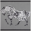 130*130cm women's twill silk scarves 2017 new charm fashion simple black and white Poker horse pattern female shawl wholesale