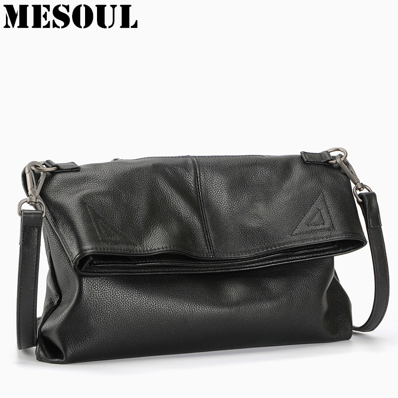 100% Genuine Leather Casual Tote Large Capacity Leather Women Handbag and Purse Fashion Black Shoulder Bag Lady Messenger bag 2017 esufeir brand genuine leather women handbag fashion shoulder bag solid cowhide composite bag large capacity casual tote bag