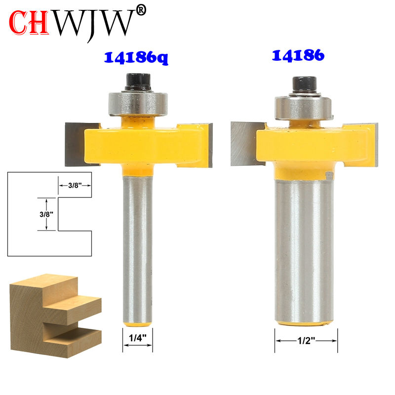 1pc 3/8 Slot Slotting & Rabbeting Router Bit - 1/4 1/2 Shank Woodworking cutter Tenon Cutter for Woodworking Tools 2 pc 1 2 sh 1 2 3 8 rabbeting
