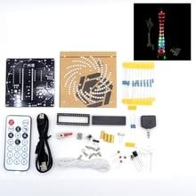 DIY LED LightCanton Tower Suite Wireless Remote Control Electronic Kit Music Spectrum Soldering Kits DIY Brain-training Toy недорого