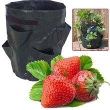 Garden Plants Grow Bag Potato Strawberry Gardening Greenhouse PE Container Bags Vertical Open Style Planter Bags Garden Supplies недорого