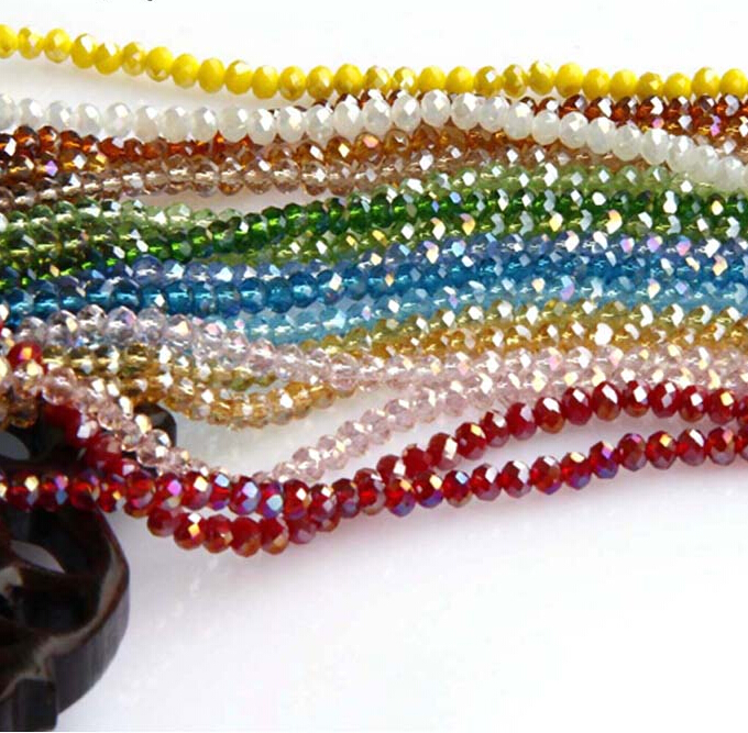 Free shipping multi color 2mm 198PCS Bicone crystal beads Cut Faceted Round Glass Beads,bracelet necklace Jewelry Making DIY(China (Mainland))