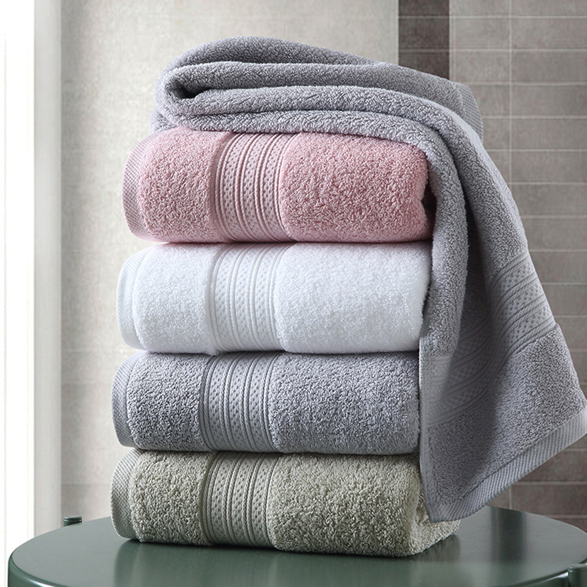 Towel-Set Hand-Face Hotel Toalla-De-Ducha Bathroom Adults Large Cotton Thick Home Solid