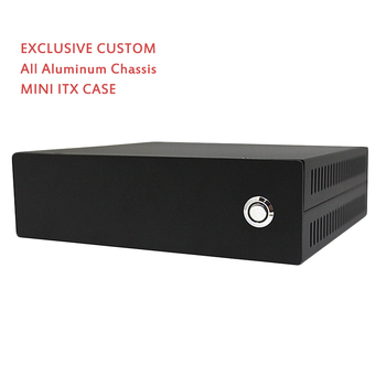 Mini ITX Computer Case HTPC Case PC Chassis All Aluminum Chassis POS Case Black Small Exclusive Custom computer case
