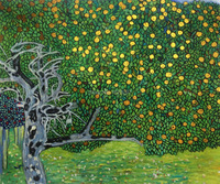 Golden Apple Tree Gustav Klimt Oil Painting On Canvas For Sale High Quality Hand Painted Landscape