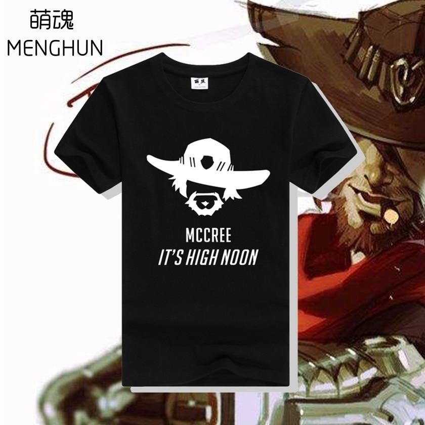 HOT new Tee shirt mens game character MCCREE lts high noon high quality cotton t shirt ac169