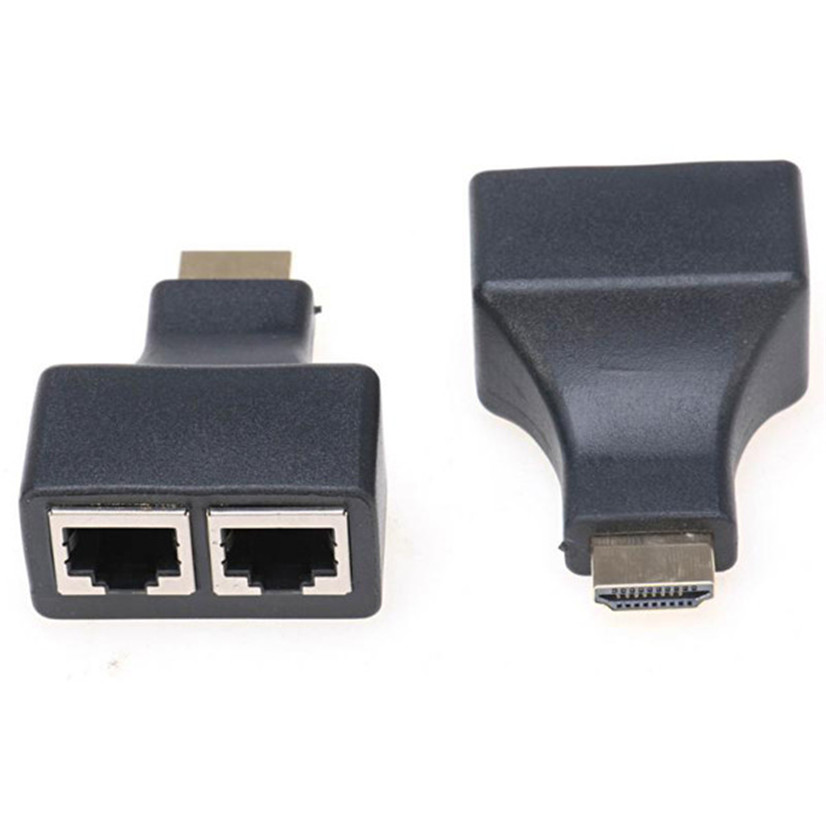 Factory price HDMI Over RJ45 CAT5e CAT6 UTP LAN Ethernet Balun Extender Repeater - 1080p 3D HD AU4 Drop Shipping Drop Shipping
