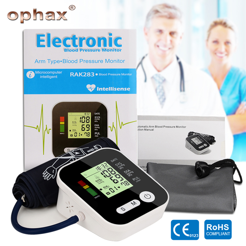 OPHAX Smart Digital LCD Upper Arm Blood Pressure Monitor Heart Beat Meter Tonometer For Measuring Automatic Health Care Products home health care 1pcs digital lcd upper arm blood pressure monitor heart beat meter machine tonometer for measuring automatic