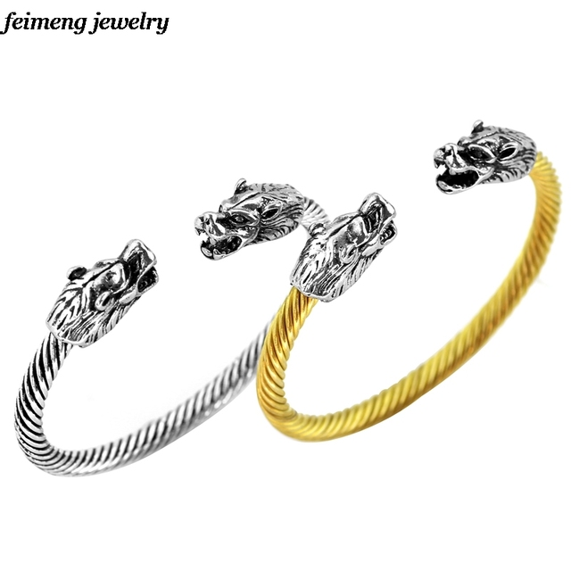 Fashion Cool Viking Jewelry Mens Alloy Top Quality Two Dragon Headed