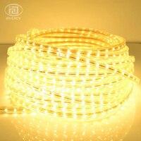 Высокое качество 3528 Светодиодные ленты Клейкие ленты света теплый белый/белый Водонепроницаемый гибкие SMD Светодиодные ленты 60leds/М AC 110 120 В