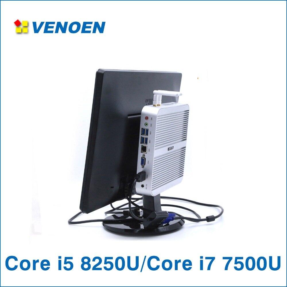 Core i7 7500U Core i5 8250U Mini PC windows 10 pro Windows 7 Russian English French