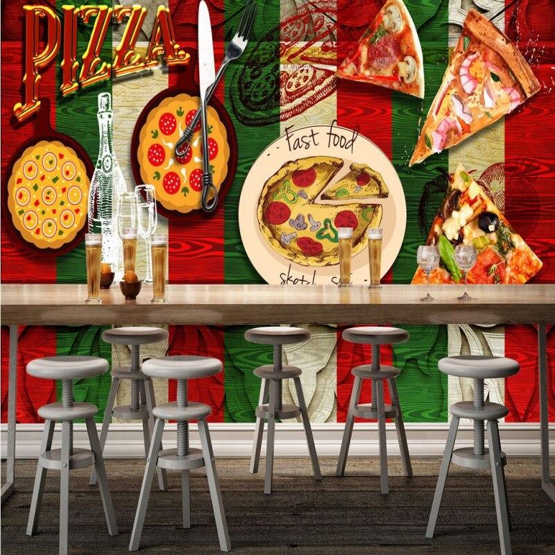 photo wallpaper Pizza Western restaurant background wall mural stereo wallpaper custom high quality muralphoto wallpaper Pizza Western restaurant background wall mural stereo wallpaper custom high quality mural