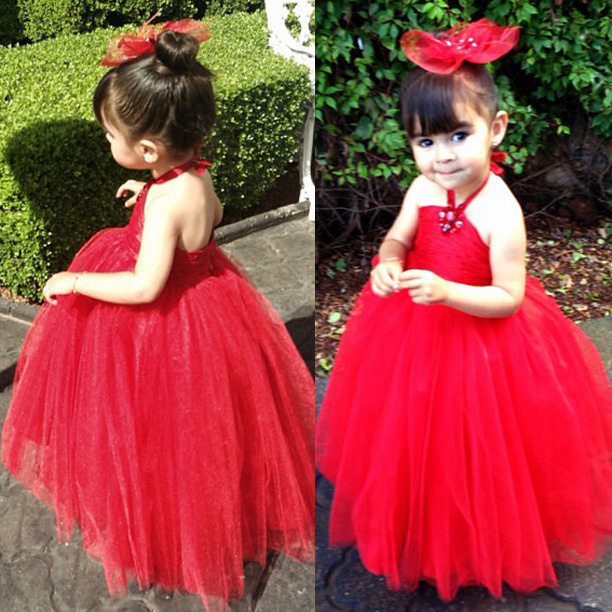 2015 Red Color Girl Dress kids Pageant Bridesmaid Prom Party Princess Dress for girls Ball Gown Formal bandage A-Line Dress kids girls bridesmaid wedding toddler baby girl princess dress sleeveless sequin flower prom party ball gown formal party xd24 c