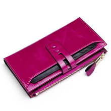 Fashion Women Wallets Genuine Leather Female Wallets With Phone Pocket