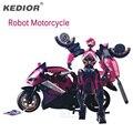 Motocicleta Modelo de Transformación Al West Carroll Robot Acción juguetes Figuras de Acción Anime Juguetes De Plástico Coche Niños Regalos de Juguetes Para Niños