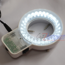 FYSCOPE 56 pcs can control LED Light white ring microscope illumination metal ring adaptor