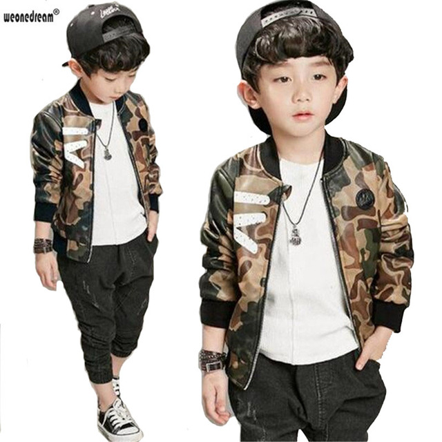 aa389f098ad55 WEONEDREAM New Spring Autumn Kids Camouflage Jacket Baby Boys Fashion Coat  Children Army green Jacket Coat Wear Kids Clothes