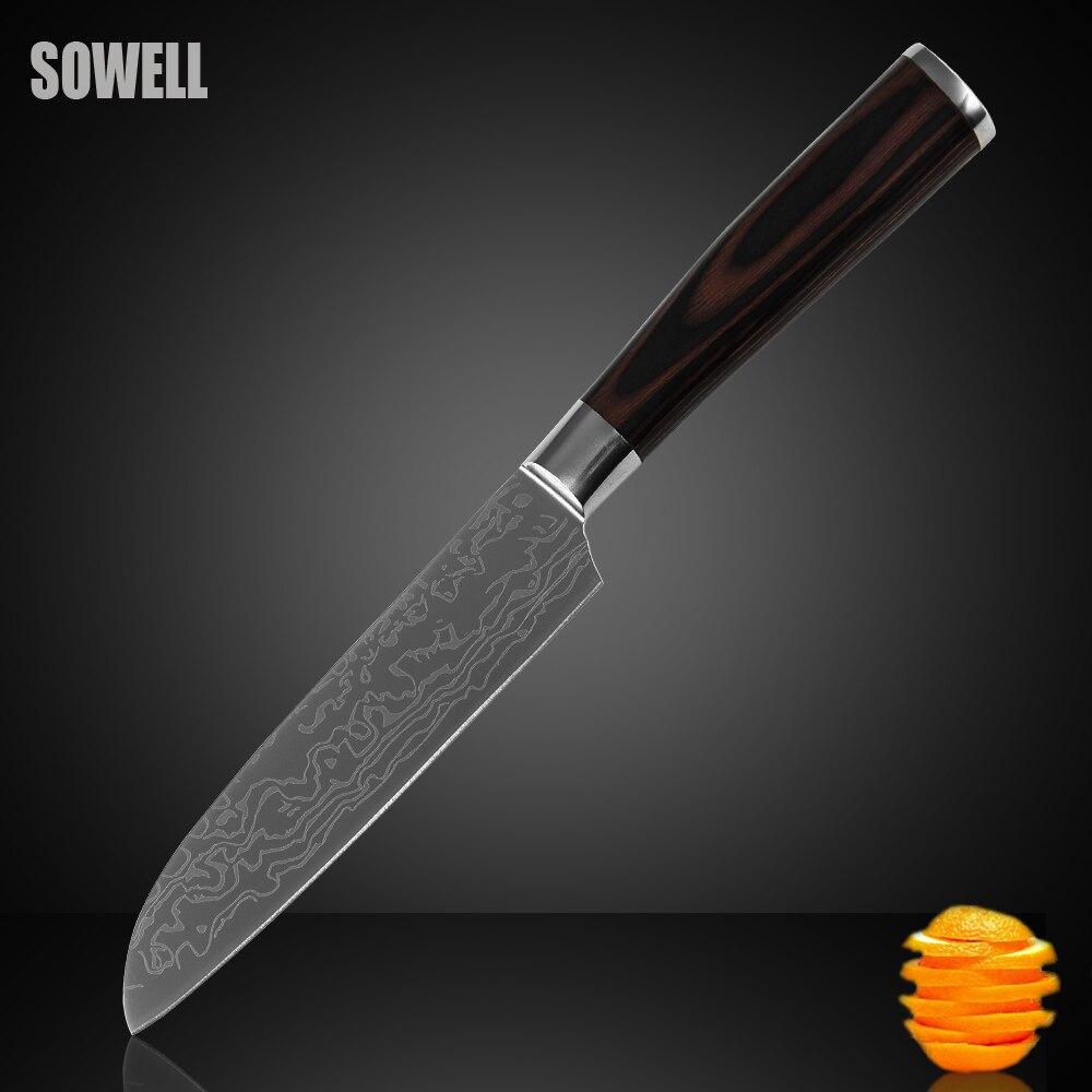 in acciaio inox knife miglior coltello da cucina 5 pollice coltello santoku coltello da cucina di