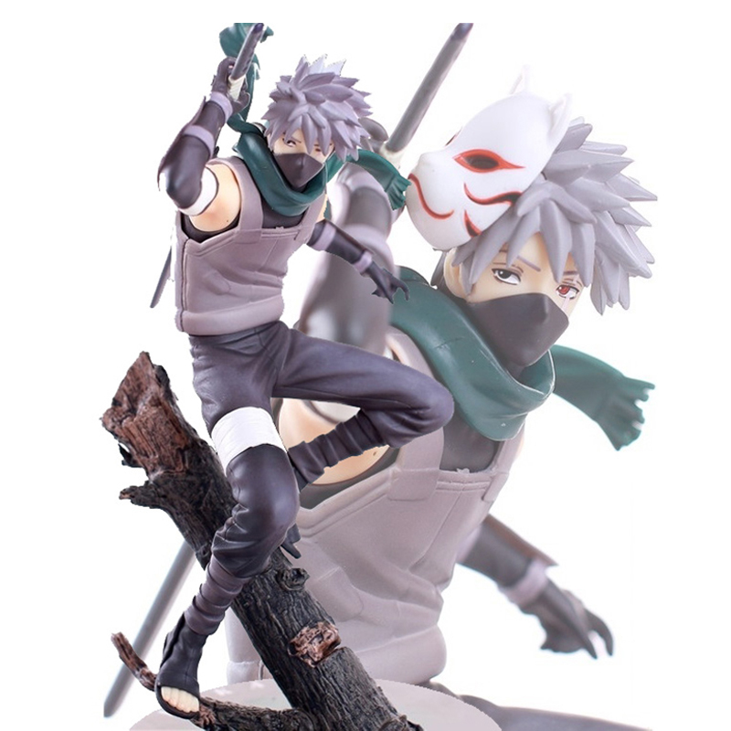 HOT Anime Naruto Figure Model Kakashi 10'' Deluxe Collection Action Figure PVC Model Gift Toy New in Box ветровка quiksilver