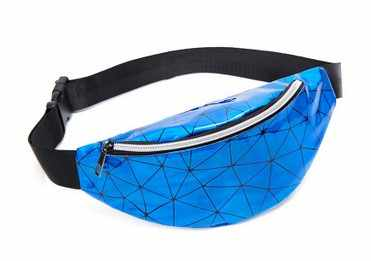 Laser Transparan Bening Pinggang Fanny Pack untuk Wanita Dada Crossbody Tas Plaid Fashion Kasual